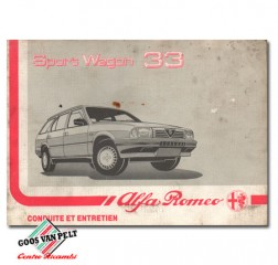 Alfa 33 type II Sport Wagon User Manual.