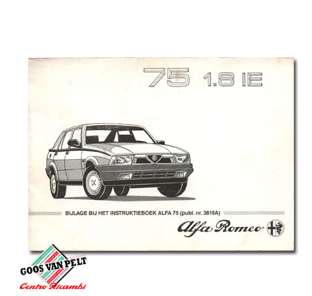 Alfa 75 1.8 IE User Manual addendum.