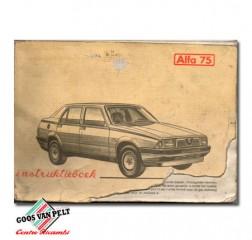 Alfa 75 User Manual