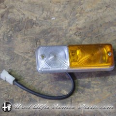 Front right indicator light Alfa 2000 Berlina (white/orange), NOS.
