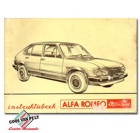 Alfa Romeo Alfasud User Manual.